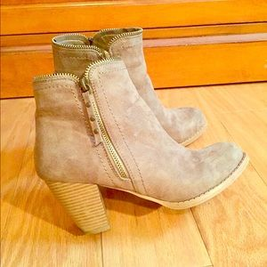 Just Fab Zipper Booties